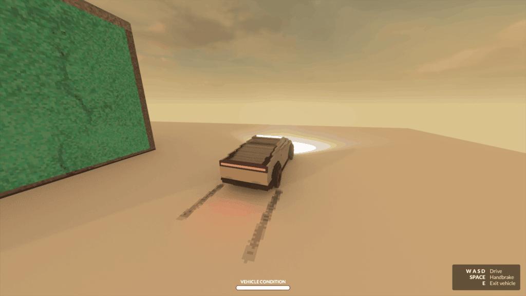 Title image for 'Cybertruck' mod for Teardown.