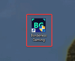 This is the default icon for Borderless Gaming, and is ran with admin privileges