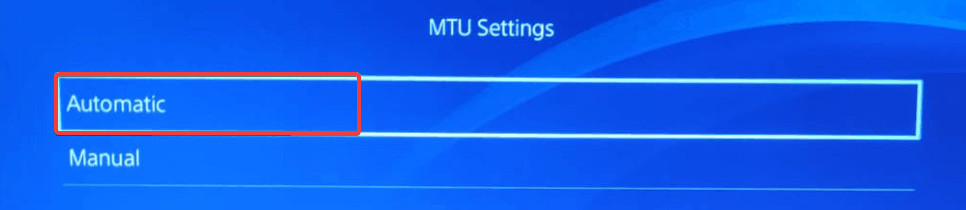 You can set the value of MTU to either Manual or Automatic. Setting it to Automatic can potentially fix Genshin Impact Connection Timed Out error