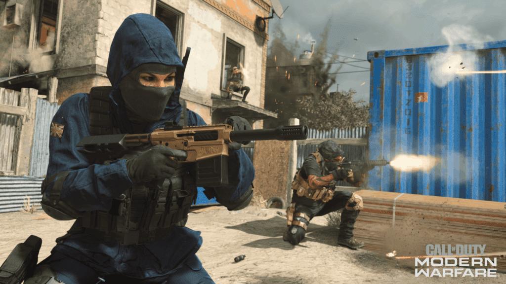 Call of Duty Modern Warfare Character with Gun