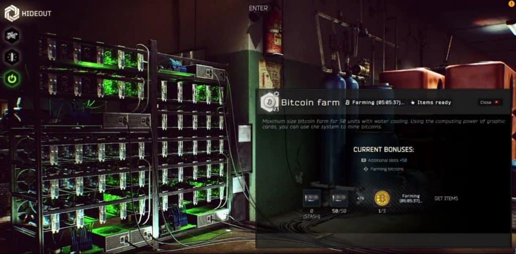 Escape from Tarkov Bitcoin Farm