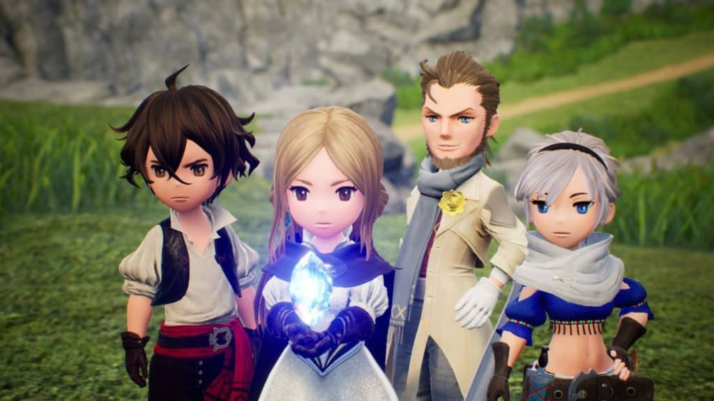 Bravely Default Main Characters from the Nintendo 3DS