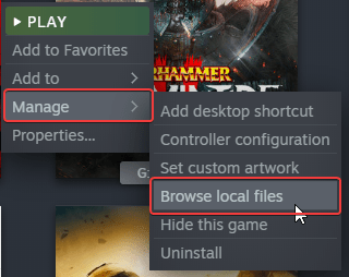 You can locate any game on your PC installed through Steam by selecting Browse local files