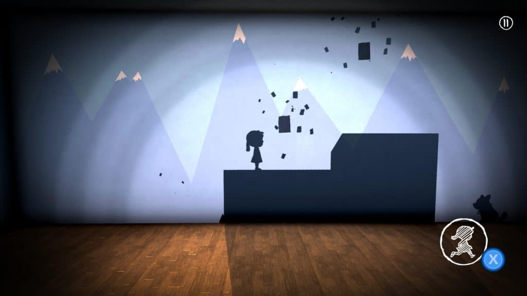 The screenshot shows a puzzle. The gameplay is one of the strongest points in our In My Shadow review