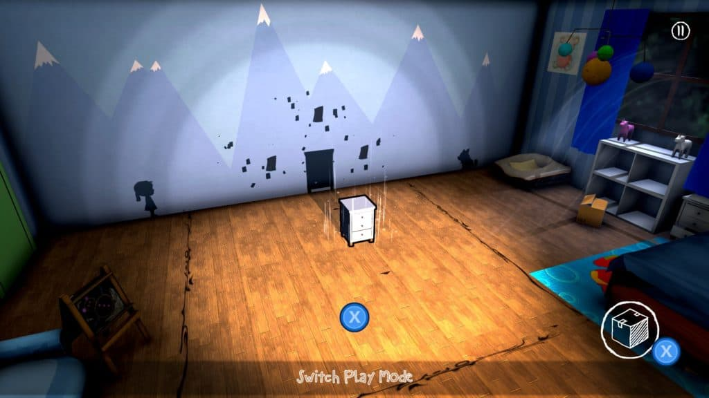 A screenshot showcasing different objects in the room