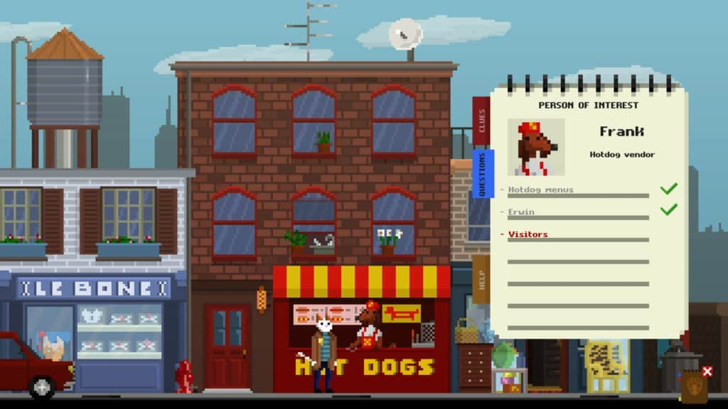 Inspector Waffles features point-and-click gameplay, and a notepad for players to use