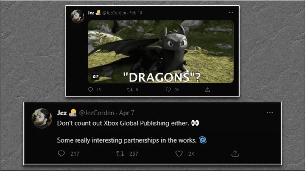 Jez Corden Teaser Tweets