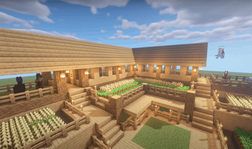 JUN MABS' beautiful Minecraft base design is the perfect choice for creative worlds.