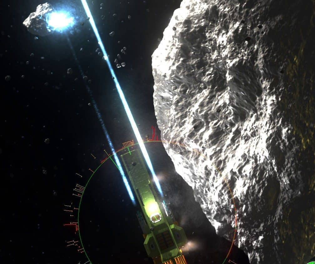 The largest asteroid I found 3 hours into the game