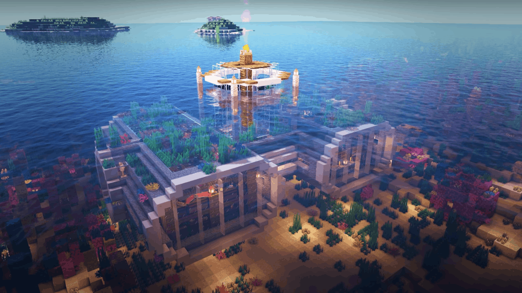 This seafloor base is one of the fun things to build in Minecraft!