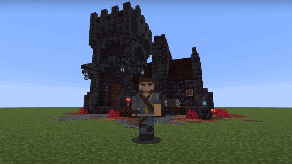 I love Minecraft build ideas like this overworld nether house!