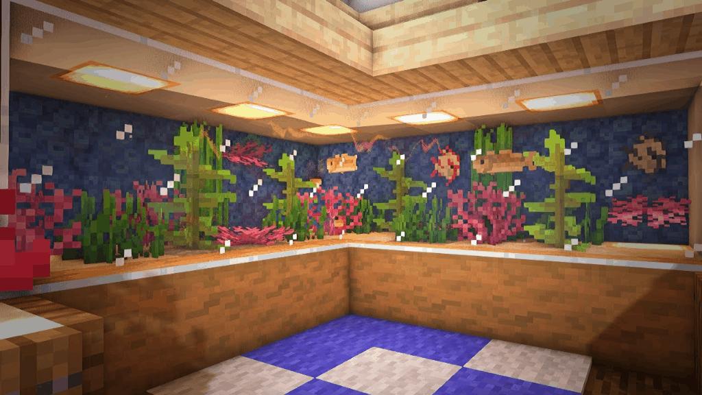 I love Minecraft build ideas like these aquariums!
