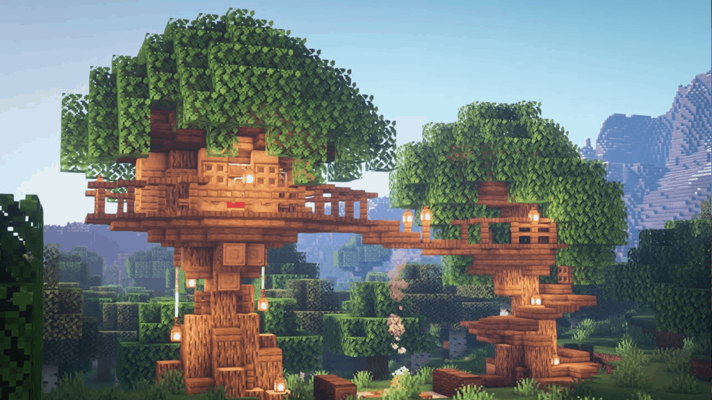 This tree is one of the fun things to build in Minecraft!
