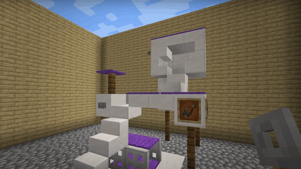 This cat house is a great idea for your next Minecraft projects.