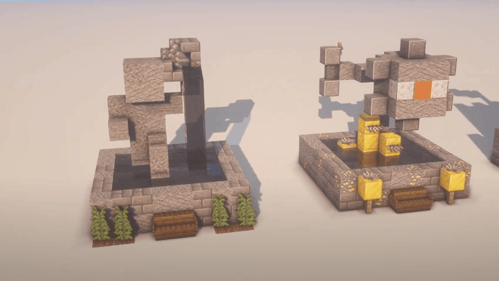 I love Minecraft build ideas like these statues!