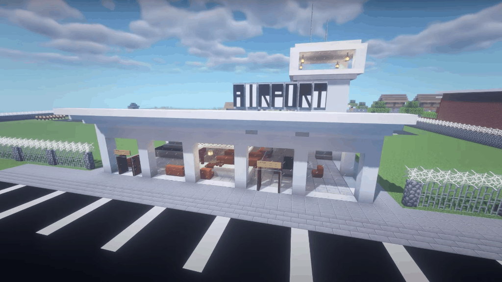 I love Minecraft build ideas like this airport!