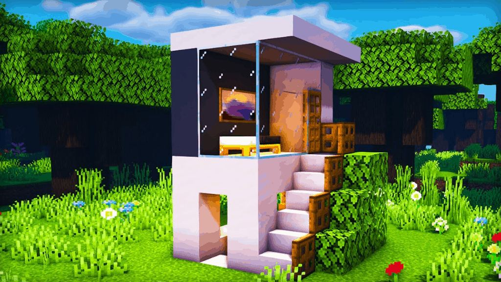 I love Minecraft build ideas like these tiny houses!