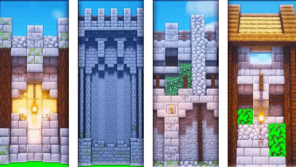 I love Minecraft build ideas like this range of medieval walls.