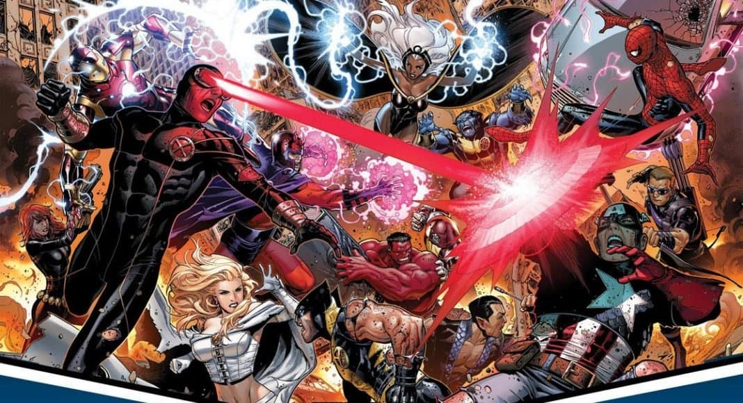 An Avengers vs. X-men poster to represent a possible new Marvel Fighting game based on the comic