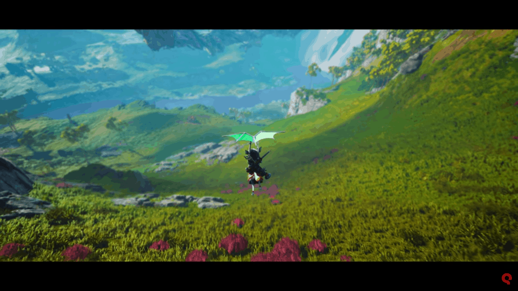 A screenshot from the Biomutant world trailer