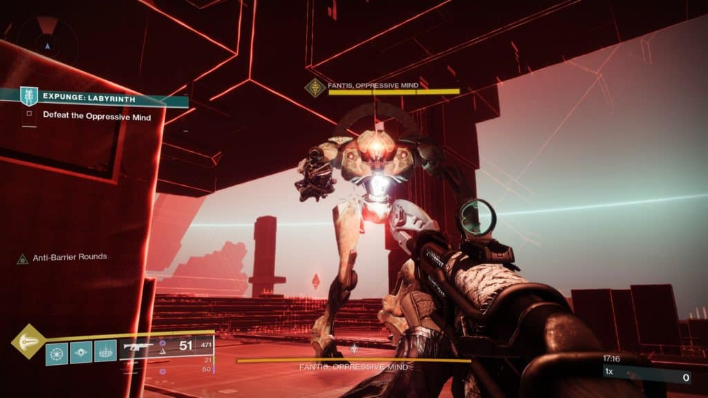 The Oppressive Mind is the final boss in the Expunge: Labyrinth mission of Destiny 2
