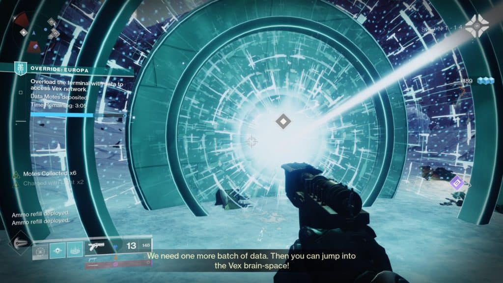 Steal data banks from the Vex to progress faster inDestiny 2 Override Europa