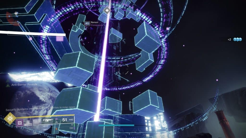 Destiny 2 Override: Moon. Splice a connection into the Vex network