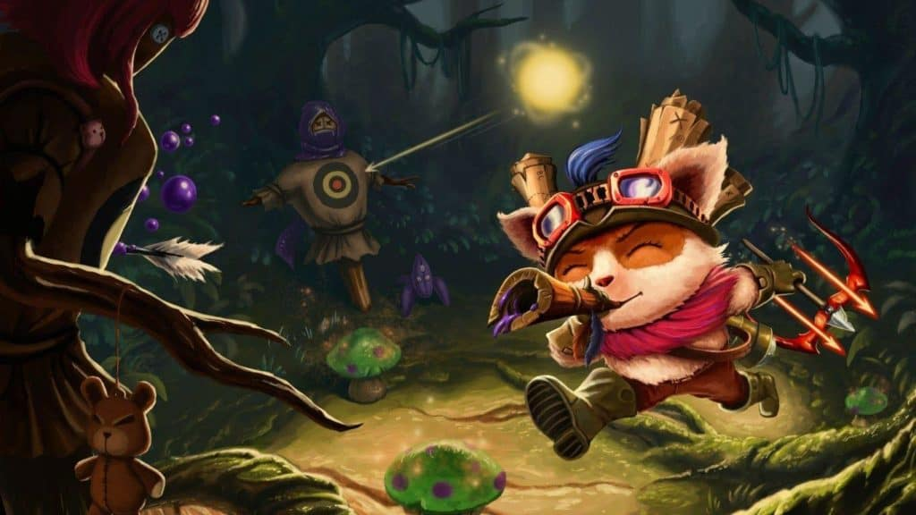 Teemo as a novelty character in Project L