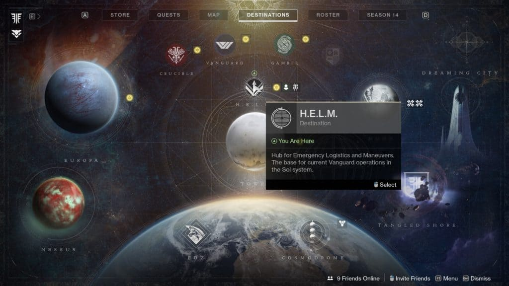 Where to Launch the Override Activity in Destiny 2