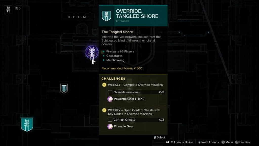 How to Override: Tangled Shore in Destiny 2