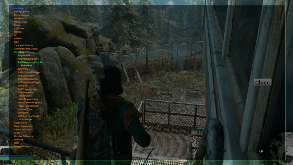 The Days Gone Debug Cheat Menu can be enabled by hitting ctrl + backspace keys together after it has been installed properly