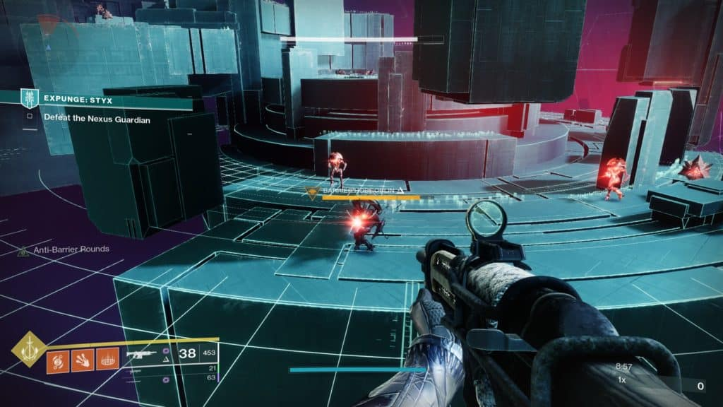 Kill the Barrier Champions in Expunge: Styx to trigger the spawn of Nexus Guardians.