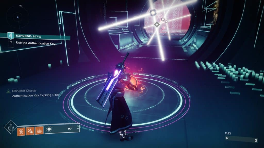 Use Authentication Keys in to lower the protective barrier of the Vex Cyclops.