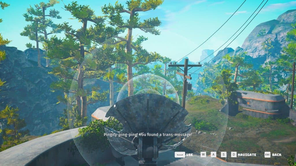 Moving Pingdish 11H to the left of the wooden post to  find the location of the Oxygen Suit in Biomutant
